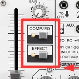 Effektprozessor am Yamaha AG03